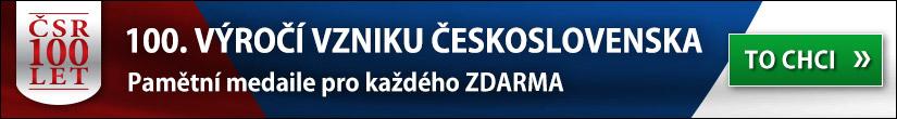 Pamětní medaile 100. výročí vzniku Československa ZDARMA