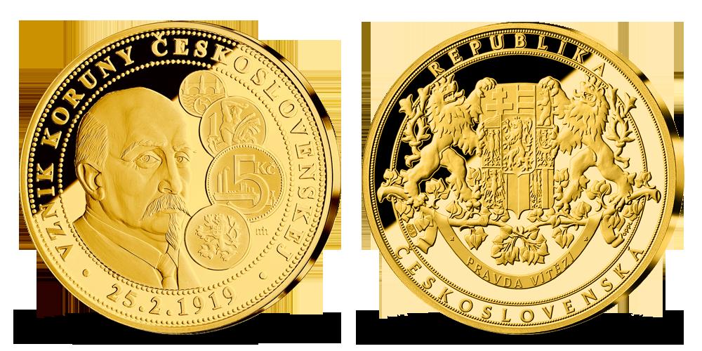 vyroci-ceskoslovenska-koruna-medaile-z-ryziha-zlata