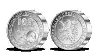 100. výročí československé měny na 1 kg ryzího stříbra
