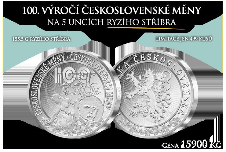 100. výročí československé měny