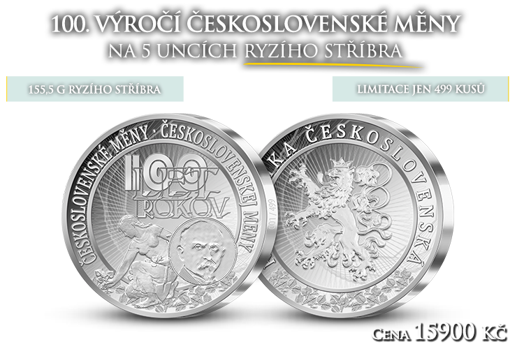 100. výročí vzniku československé měny