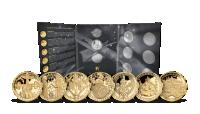 Sada sedmi pozlacených medailí Život Karla IV. s numismatickým albem
