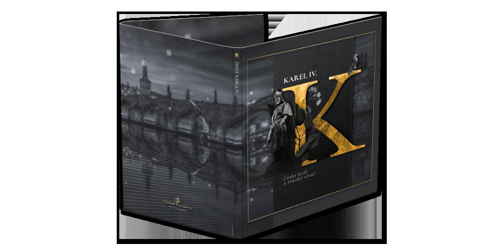 Numismatické album pro sadu sedmi pozlacených medailí Život Karla IV.