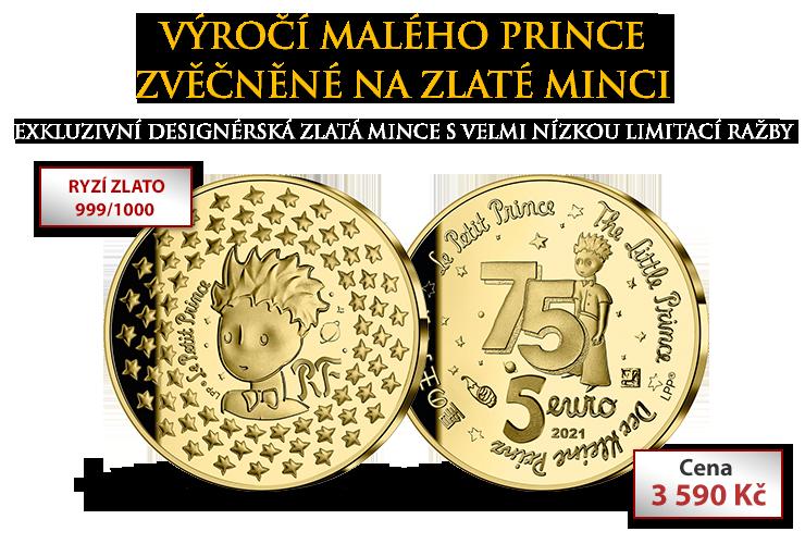 Výročí Malého prince zvěčněné na zlaté minci