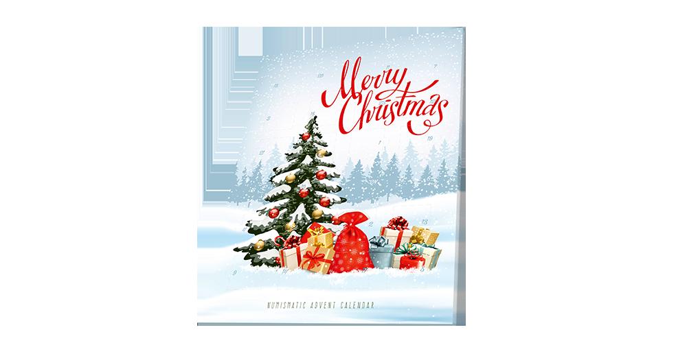 Adventní kalendář - vánoční kolekce světových mincí