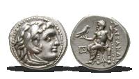 Stříbrná drachma - autentický historický artefakt starší více než 2300 let