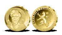 Alfons Mucha - pamětní medaile z ryzího zlata 999/1000