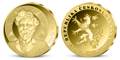 Alfons Maria Mucha   Alfons Mucha na zlaté medaili