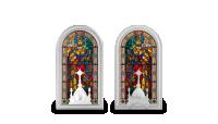 Slavná vitráž baziliky sv. Štěpána na stříbrné minci