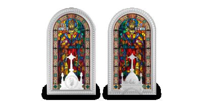 Slavná vitráž baziliky sv. Štěpána v Budapešti