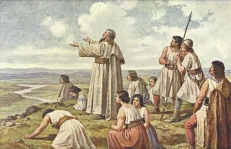 Bájný výstup praotce Čecha na horu Říp