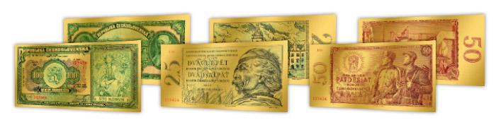 Ukázka dalších replik bankovek v kolekci
