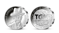 Stříbrná pamětní medaile Ražba dne T. G. Masaryk