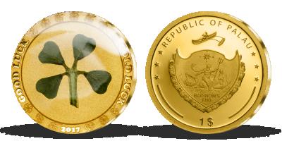 Zlatá mince se čtyřlístkem, webshop 2017