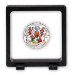 Magic frame - kouzelný rámeček, ve kterém se mince se Čtyřlístkem doslova vznáší