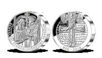 Cyril a Metoděj na 5uncové číslované medaili z ryzího stříbra