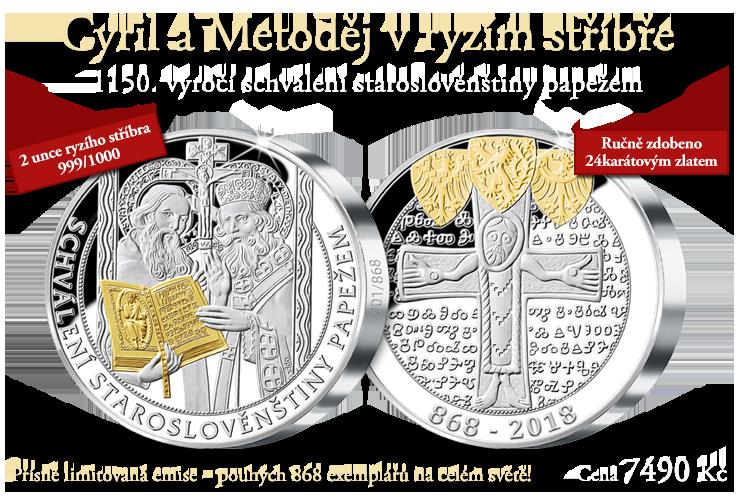 Cyril a Metoděj v ryzím stříbře