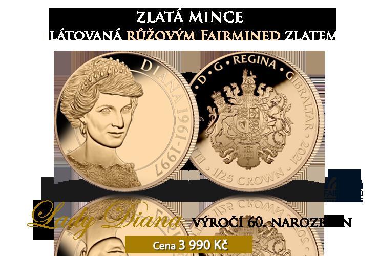 Výročí 60. narozenin princezny Diany na minci z ryzího zlata