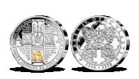 stříbrná pamětní medaile Karel IV. a jeho dvorní kronikáři