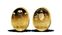 Fabergého vejce na minci z ryzího zlata