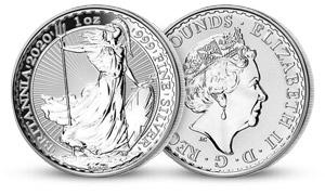 Stříbrná mince Britannia 2020