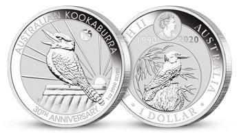 Výroční stříbrná mince Kookaburra 2020
