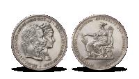 25. výročí svatby Františka Josefa I. a Sissi na originální historické minci ze stříbra vysoké ryzosti