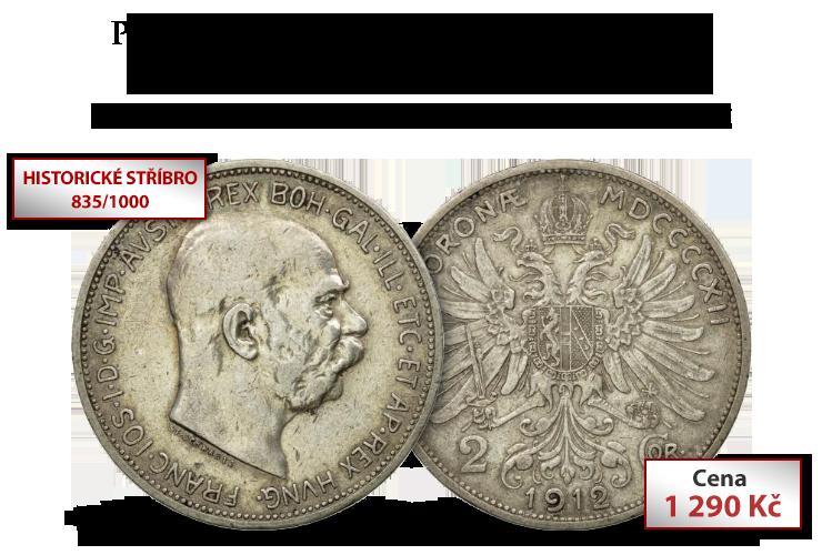 Poslední stříbrná dvoukoruna rakouského císaře Františka Josefa I.
