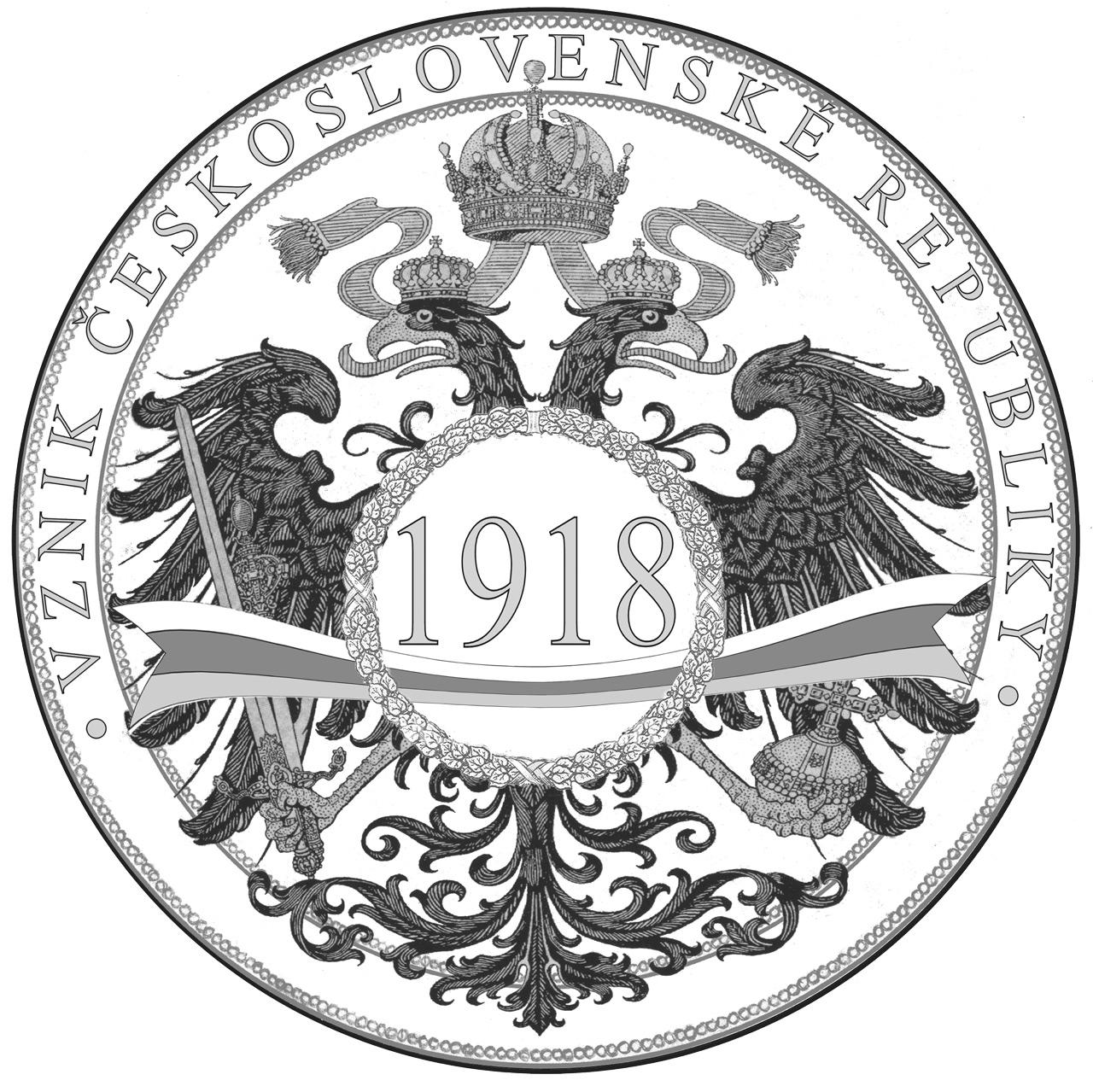 Návrh pamětní medaile Vznik československé republiky