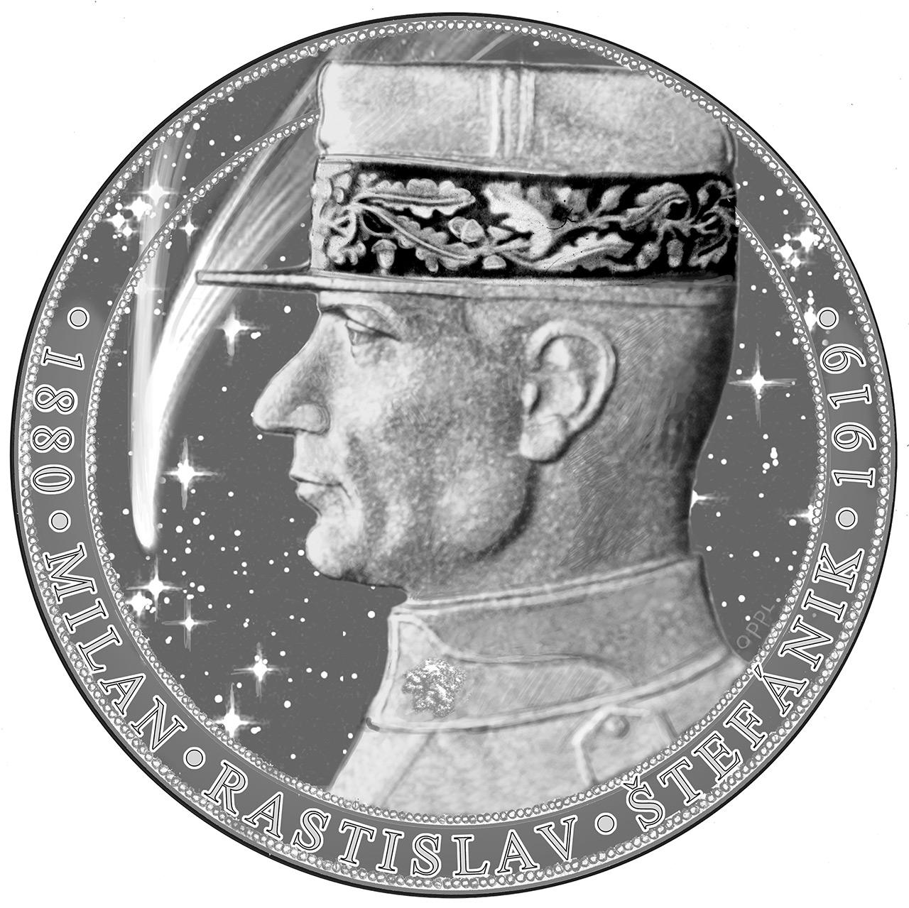 Návrh pamětní medaile Milan Rastislav Štefánik