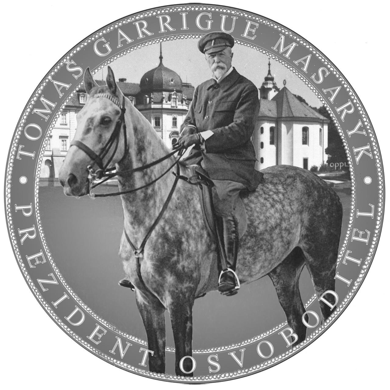Návrh pamětní medaile Tomáš Garrigue Masaryk