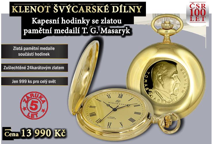 Kapesní hodinky T. G. Masaryk