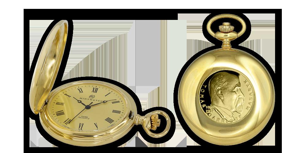První československý prezident T. G. Masaryk na prestižních kapesních hodinkách