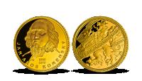 J. A. Komenský na zlaté medaili