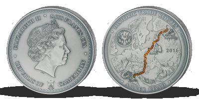 Stříbrná mince - Jantarová stezka, 2016