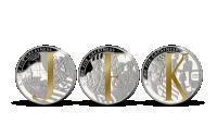 John Fitzgerald Kennedy - sada 3 mincí zušlechtěných ryzím stříbrem a vzácným Fairmined zlatem!