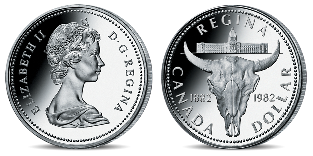 Oficiální kanadské dolary - mince Bizon