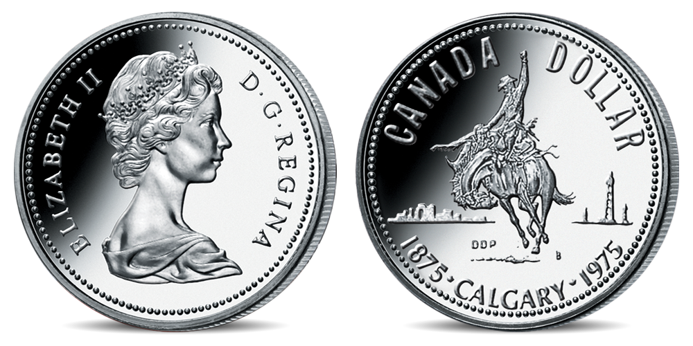Oficiální kanadské dolary - mince Calgary