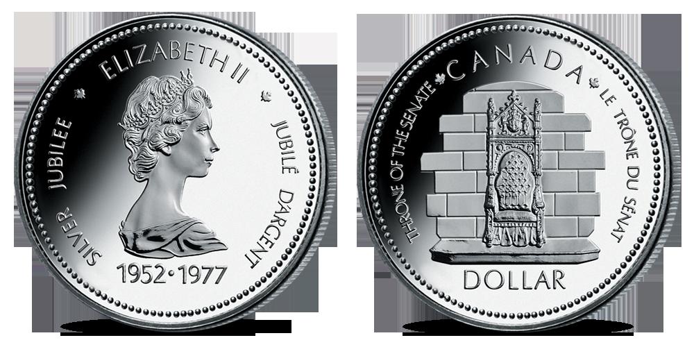 Oficiální kanadské dolary - mince Throne of the Senate