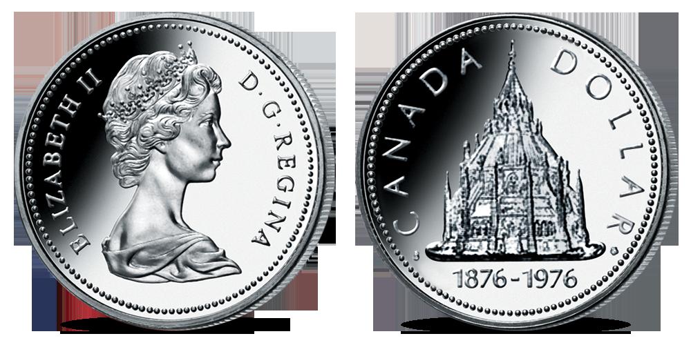 Oficiální kanadské dolary - mince Library