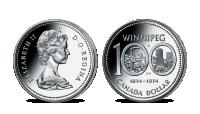 Oficiální kanadské dolary - mince Winnipeg