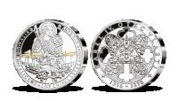 Stříbrná pamětní medaile Karel IV. a bitva u San Felice