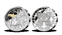 Stříbrná pamětní medaile Karel IV. a horké lázně u Lokte