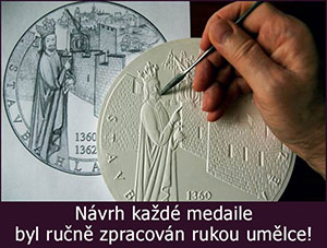 Ruční zpracování pamětní medaile Založení univerzity