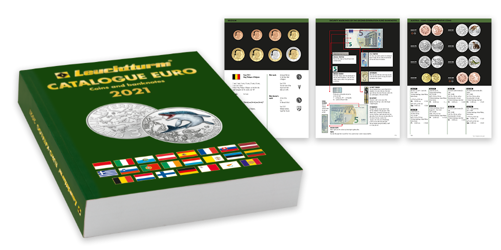 Barevný katalog euro mincí a bankovek od roku 1999