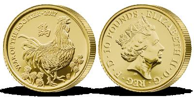 Rok kohouta 2017 1/10 uncová zlatá mince sale