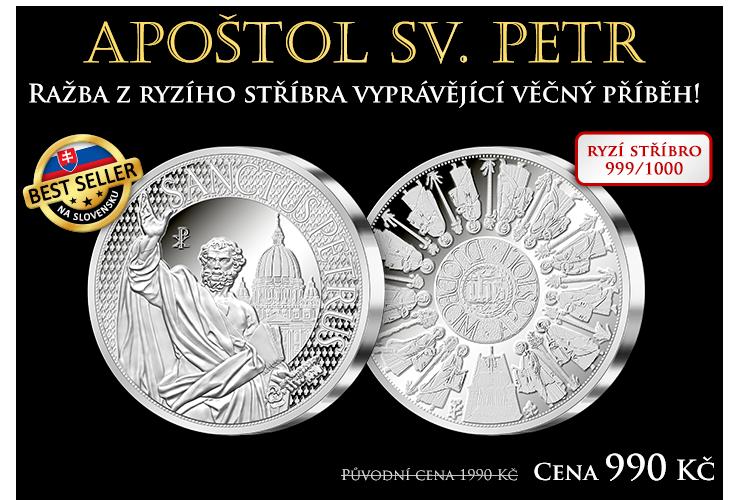 12 Apoštolů z ryzího stříbra