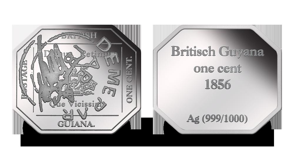 Stříbrné známky - Magenta Britské Guyany