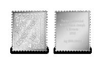 Stříbrné známky - Přetisk Pošta Československá