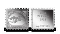 Stříbrné známky - Obrácená Jenny (USA)